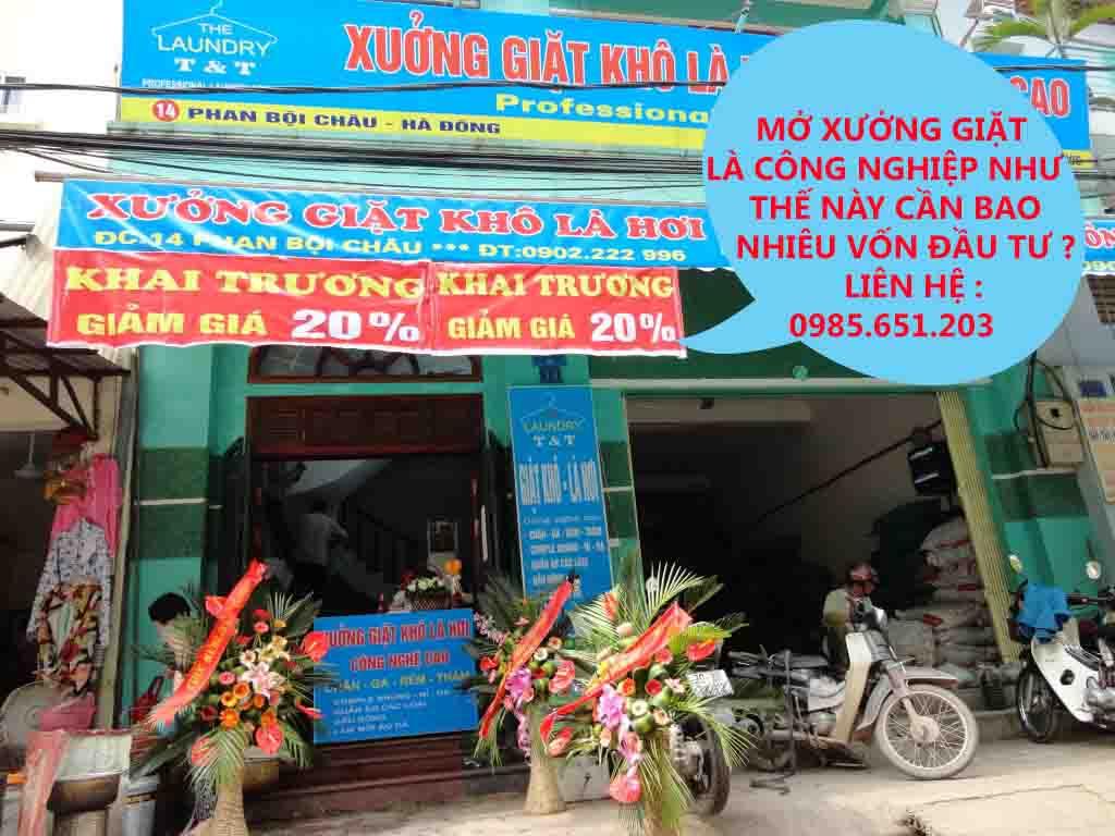 bao nhieu tien du mo xuong giat la cong nghiep - Cần bao nhiêu vốn để mở tiệm giặt là công nghiệp mới?